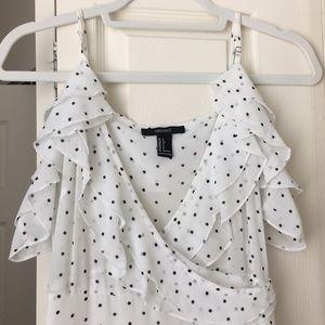 White/ black polkadot maxi dress